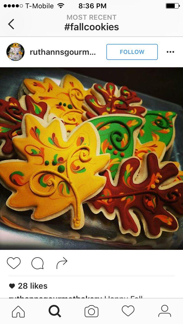 Leaf Cookies Otoño En 2019 Galletas Decoradas Galletas