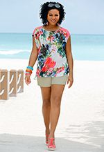Cato summer lace floral top and cute sandals!