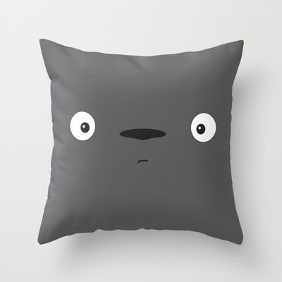 Totoro Throw Pillow by Johan Ruda - $20.00
