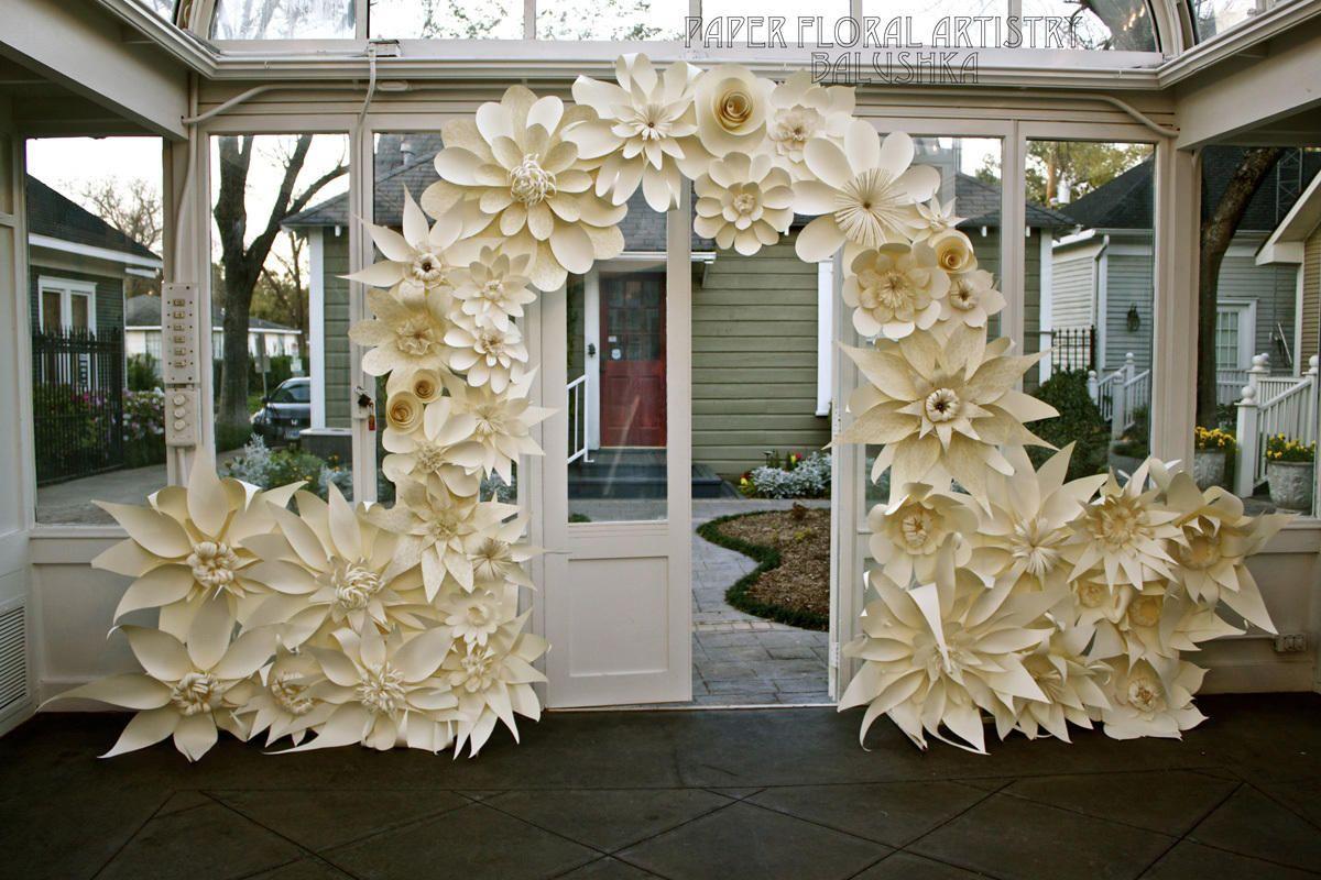 Gazebopaperwedding Paper Flowers Wedding Backdrop Balushka