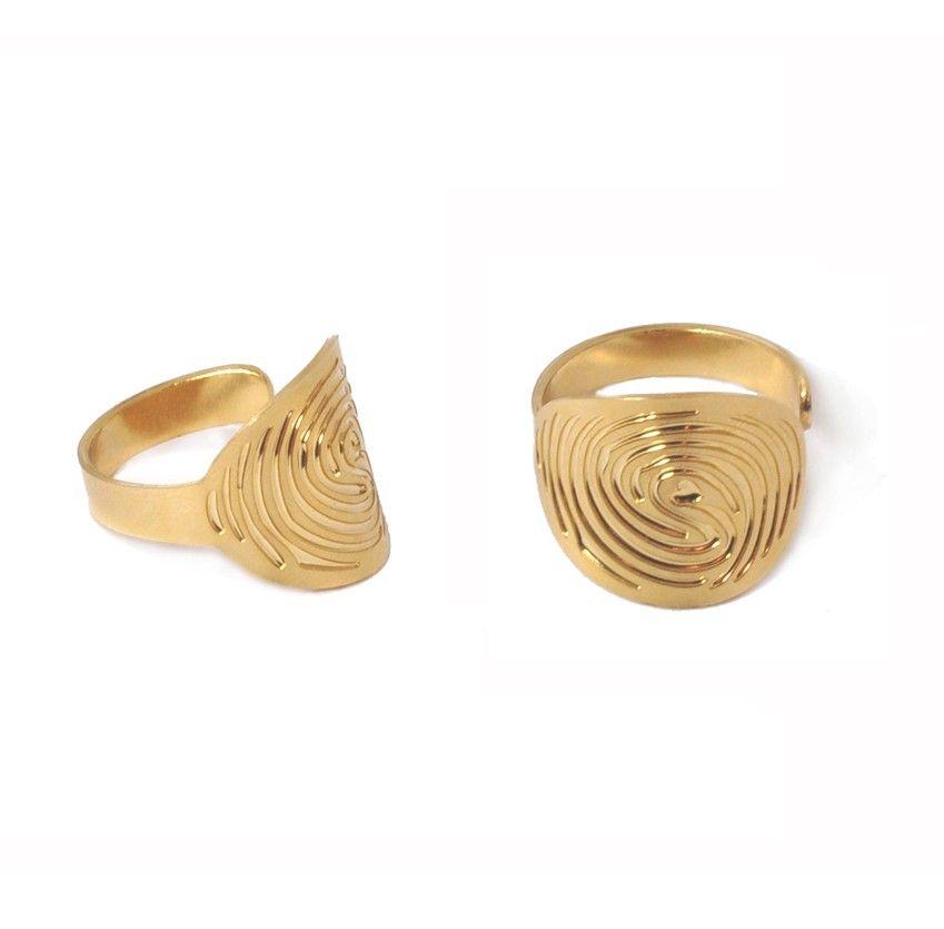 luciesaintleuboutique - Bague sceau plaquée or