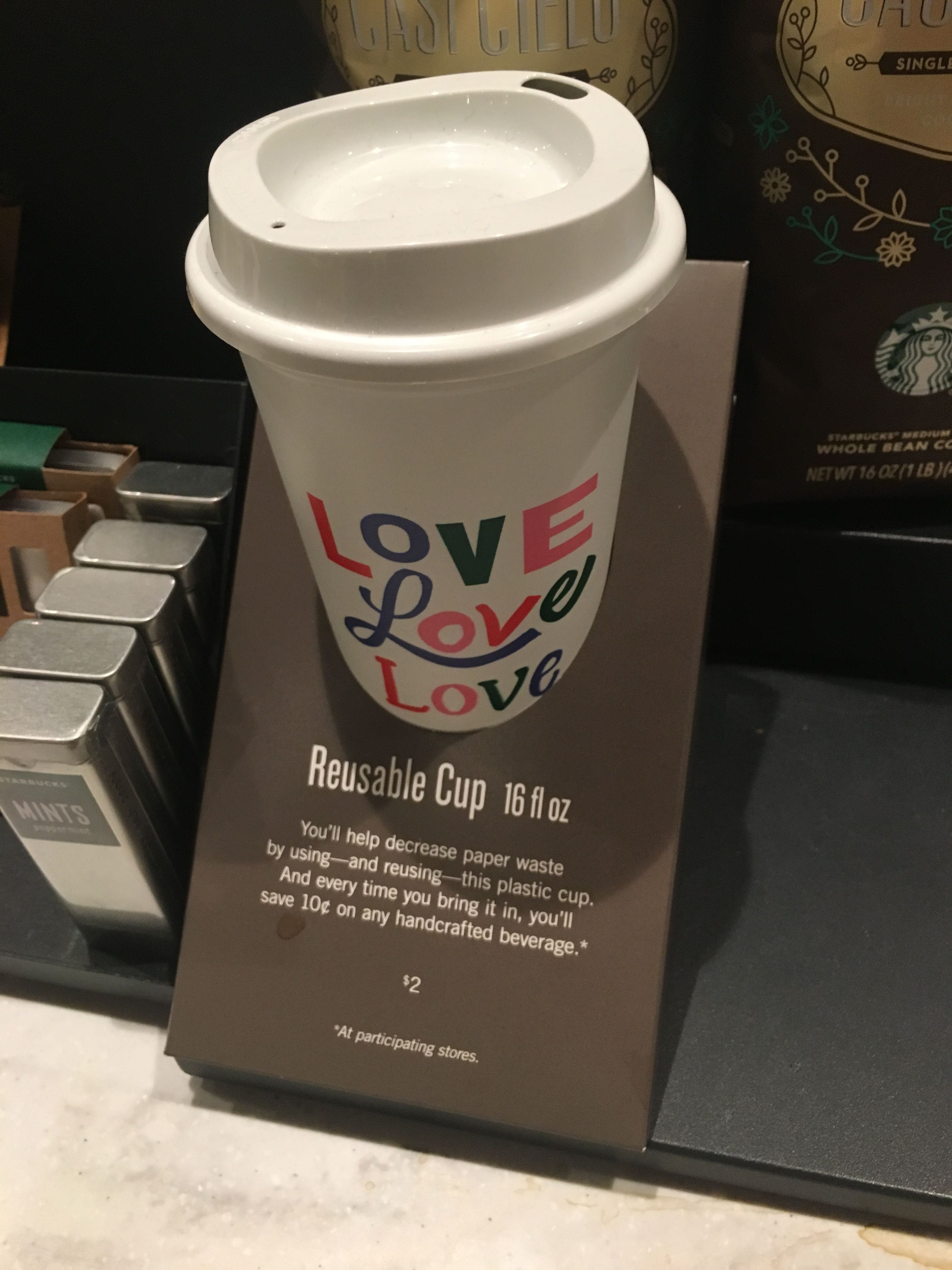 starbucks valentine's day 2018 reusable cup 16 fl oz