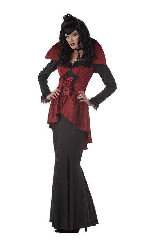 Gothic Elegant Vampire Countess Adult Womens Costume ...