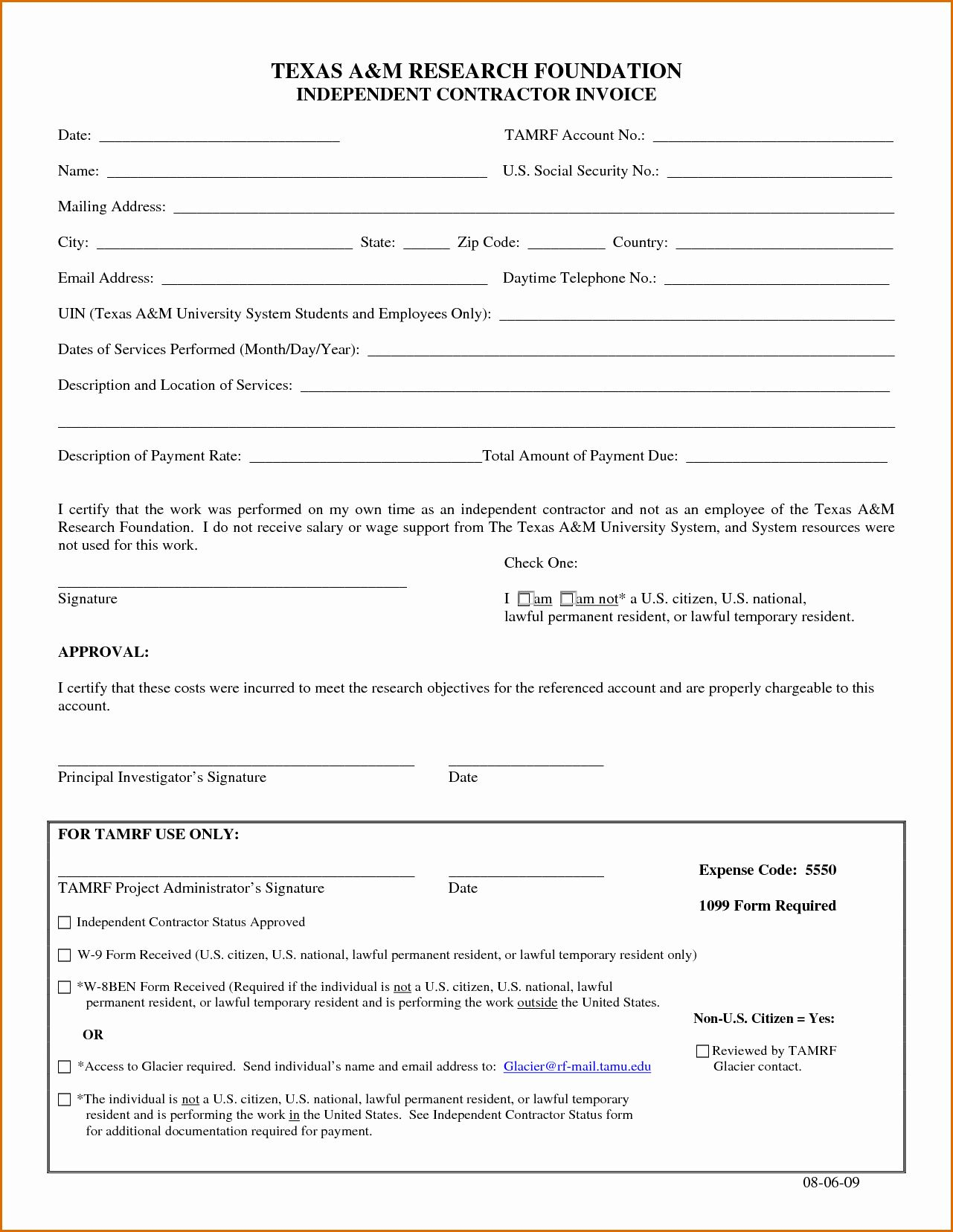 40 independent contractor invoice template pdf in 2020