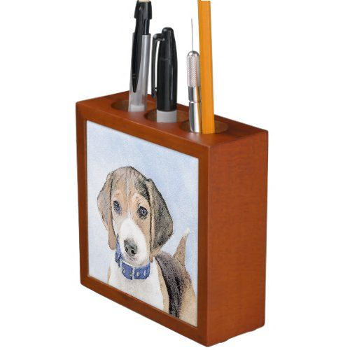 Beagle Painting - Cute Original Dog Art Desk Organizer   best puppy breeds, bringing home puppy, diy puppy ears #beagleworld #dogmania #catmania, back to school, aesthetic wallpaper, y2k fashion