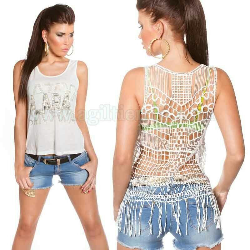 #Camiseta #sinmangas #diseño #semi #holgado con #flecos, #estilo #llamativo y #sexy con o sin #espalda #translucida, #estampado de #letras de #colores o con #piedras #brillantes #incrustadas, para #marcar #tendencia #joven y #original con un #look #desenfadado que #pegara con todo tu #armario. #Encuentralo en #Tops y #Camisetas de :  http://www.agiltienda.com/es/tops-y-camisetas/2209-camisetas-con-flecos-para-mujeres-8400220963178.html? #Online #shop #sexy #fashion @agiltienda.es