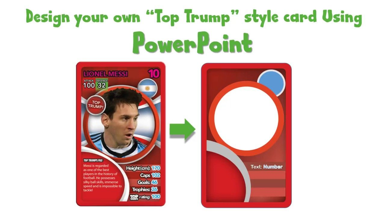 Draw A Top Trump Card Using Powerpoint Youtube For Top Trump Card Template Great Professional Templates