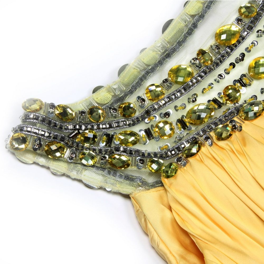 osell wholesale dropship A-Line Bateau Neckline Floor-Length Charmeuse Evening Prom Dress $101.51
