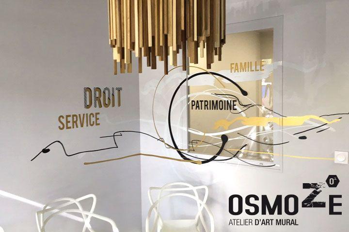 Décoration murale contemporaine>Etude notariale Brocca>Salle d ...