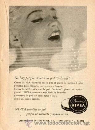 P gina publicidad original crema nivea vintage a o 1959 carteles publicitarios antiguos - Carteles publicitarios originales ...