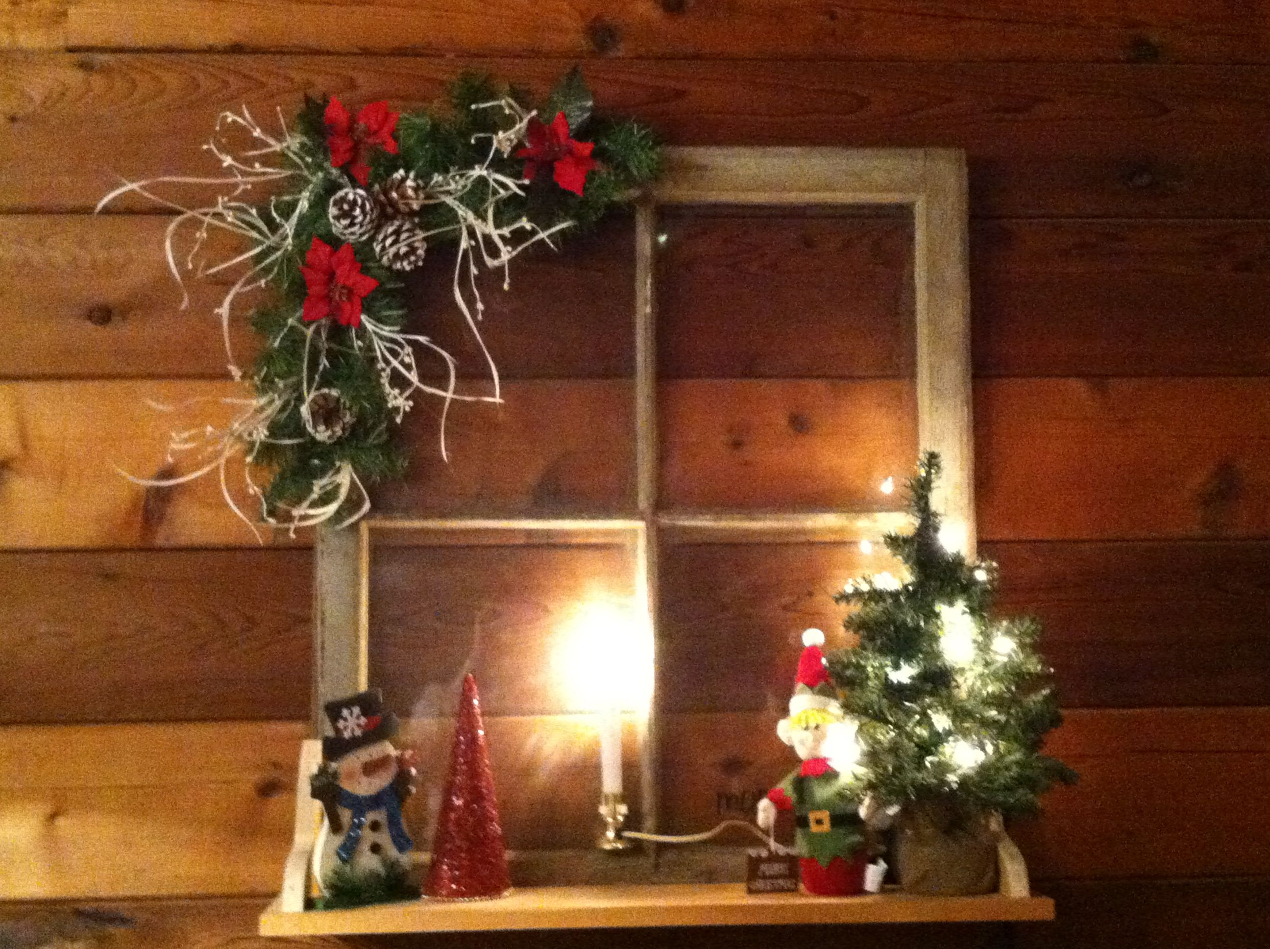 bay window christmas decorating ideas old windows for christmas christmas ideas - Ideas For Decorating A Bay Window For Christmas