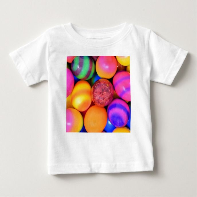Colourful easter eggs pattern baby t shirt easter giftcards craft colourful easter eggs pattern baby t shirt easter giftcards craft supplies custom craft negle Choice Image