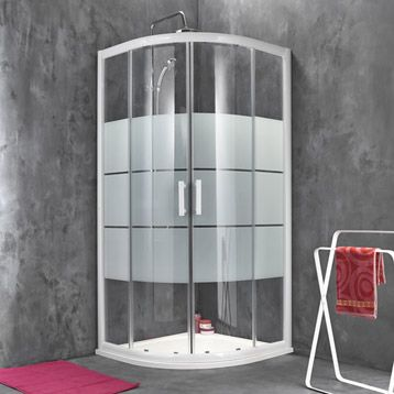 porte de douche coulissante sensea optima 2 verre With porte douche coulissante 70