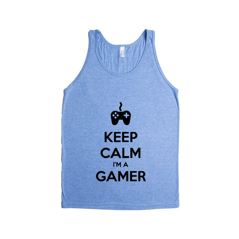 Keep Calm I'm A Gamer Game Video Games Computers Xbox Playstation PC Gaming Nerd Nerds Geek Geeks Unisex Adult T Shirt SGAL3 Men's Tank