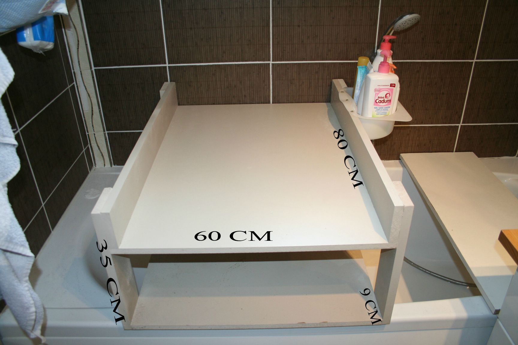 table a langer baignoire