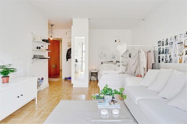 6 ideas para decorar un monoambiente departamentos for Como amueblar un loft de 35 metros