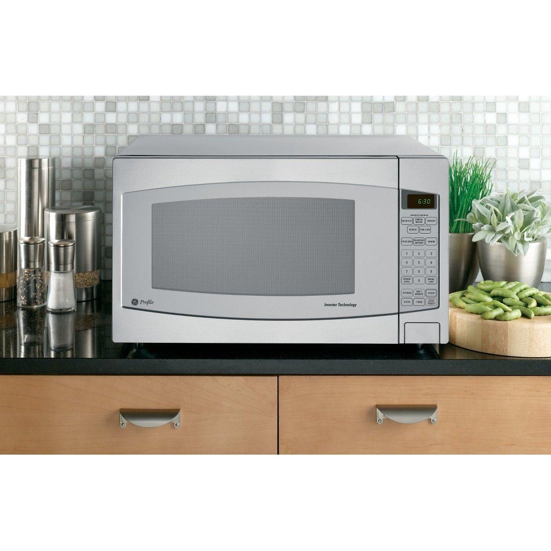 Ge Stainless Steel Profile 2 2 Cu Ft Microwave Stainless Steel Oven Microwave Oven Microwave