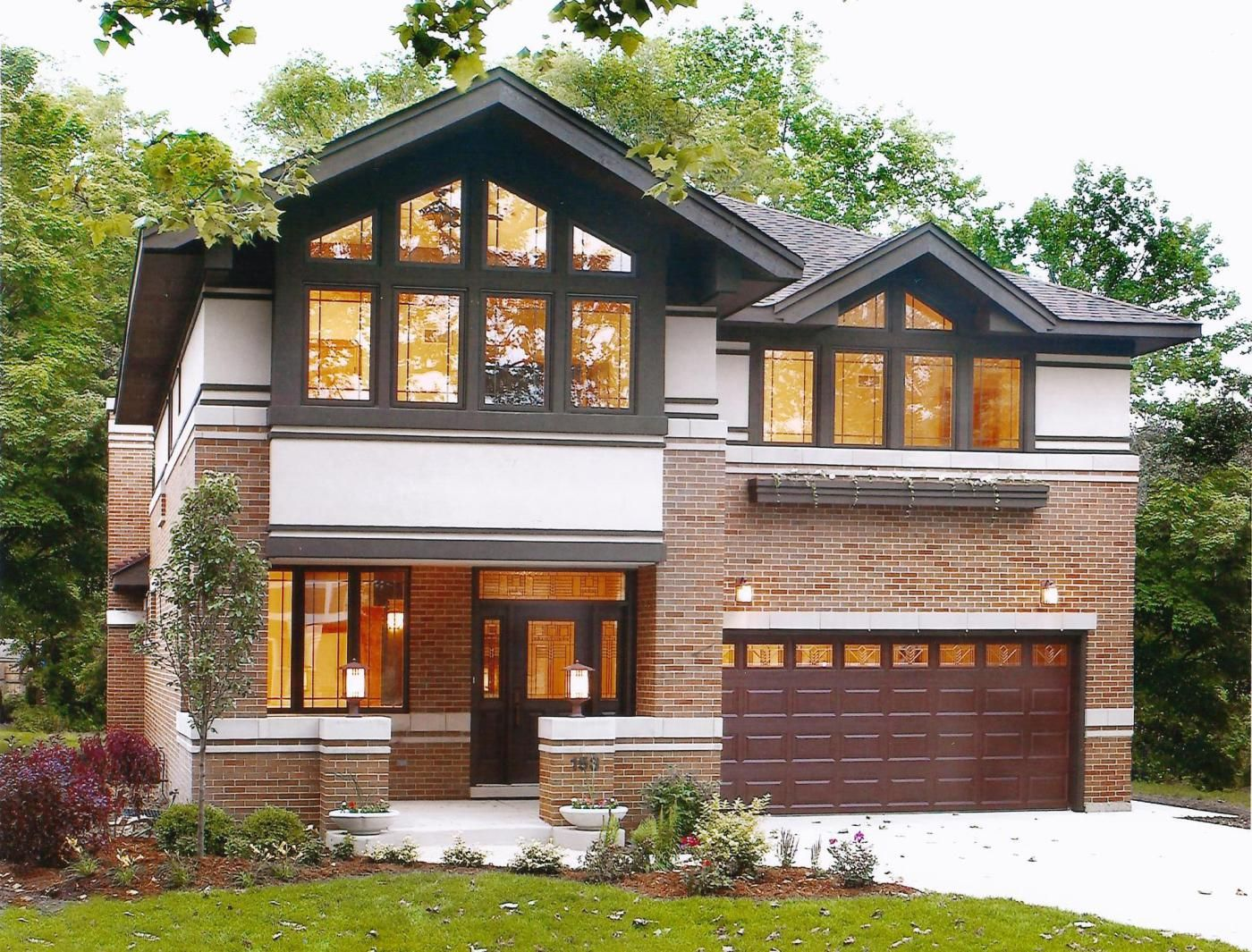 Frank lloyd wright inspired walkout ranch west chicago