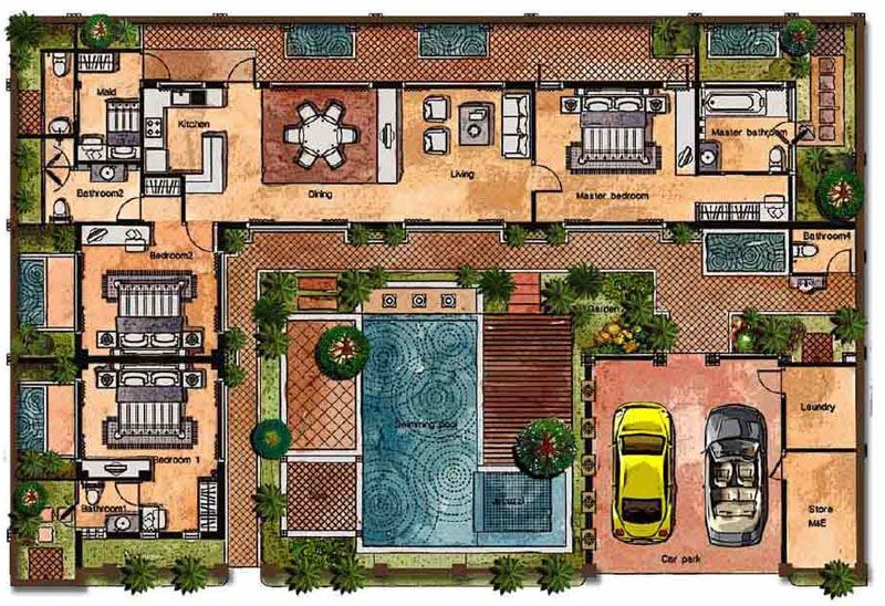 My Perfect Holiday House South Coast Bali House Pool House Plans House Floor Plans