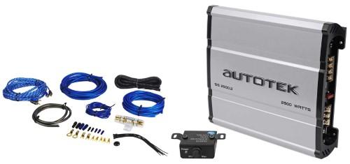 autotek ss2500 2 super sport 2500w 2-channel car amplifier class a/b + amp  kit