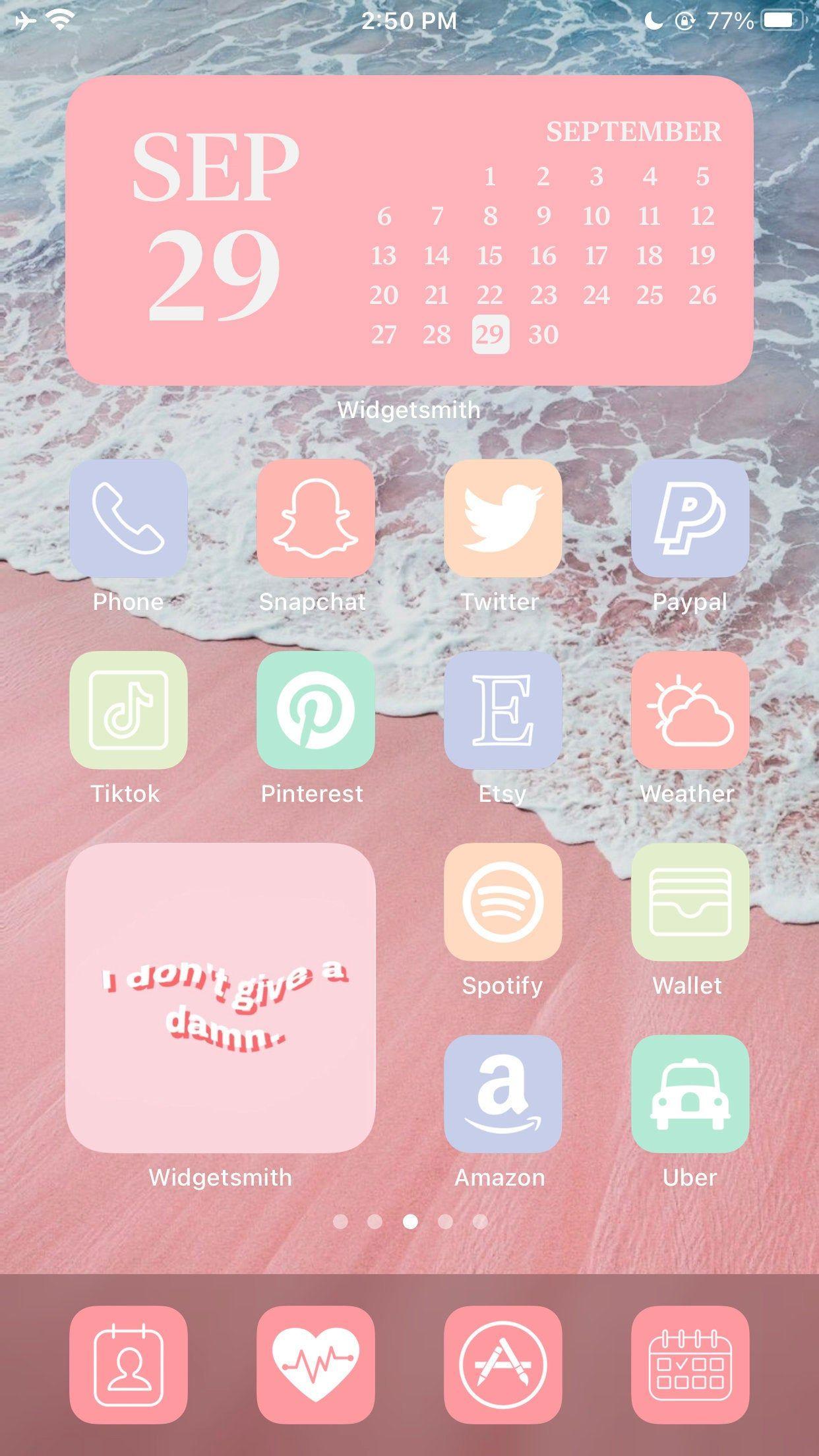 Cute Crayon Rainbow App Icon I Aesthetic iPhone iOS 14 I Cute Colorful App Cover I Hand-drawn Icon Packs I Cute Kawaii Icons 5000