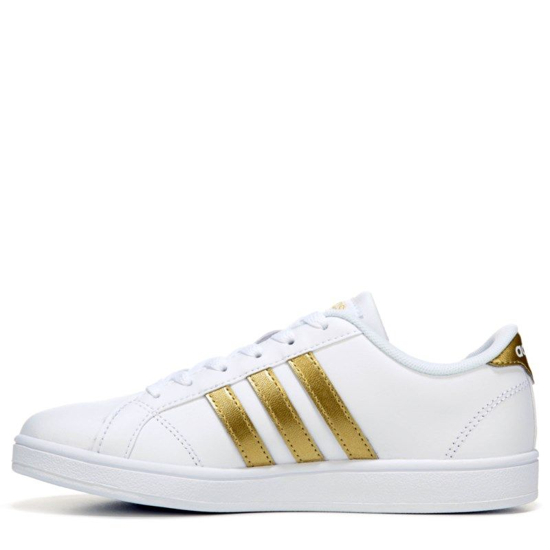 20ba5736af5 Adidas Kids  Baseline Fashion Sneaker Pre Grade School Shoes (White Gold) -  12.0 M