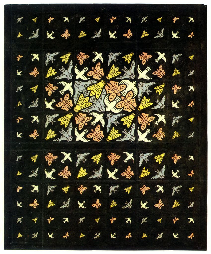 Prelim Drawing Ceiling Decoration for Philips by M.C. Escher 1951