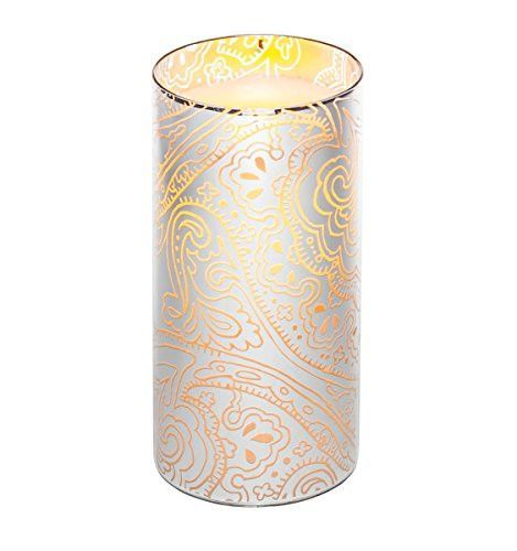 Candle Impressions - 7 Indochine Glass Luminary w/ Programmable Timer