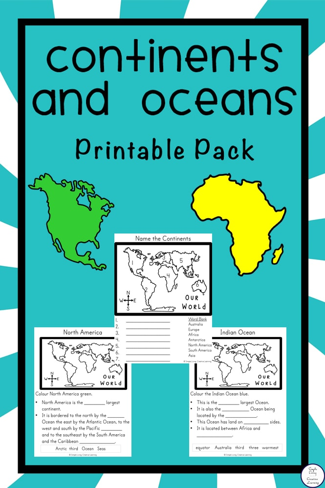 {FREE} Continents and Oceans Printable Pack CDC