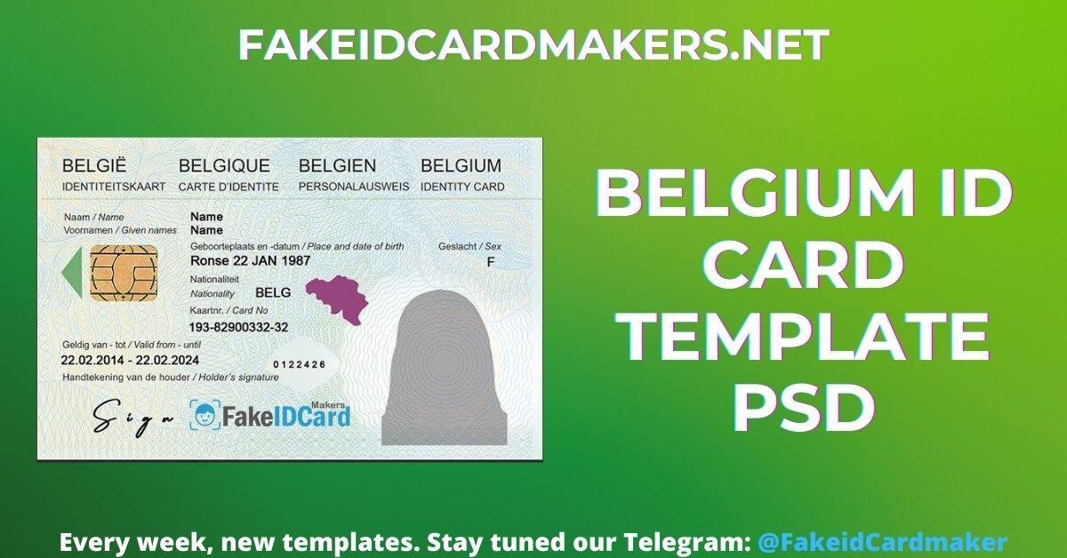 Belgium Identity Card Template Psd Card Template Cards Passport Template