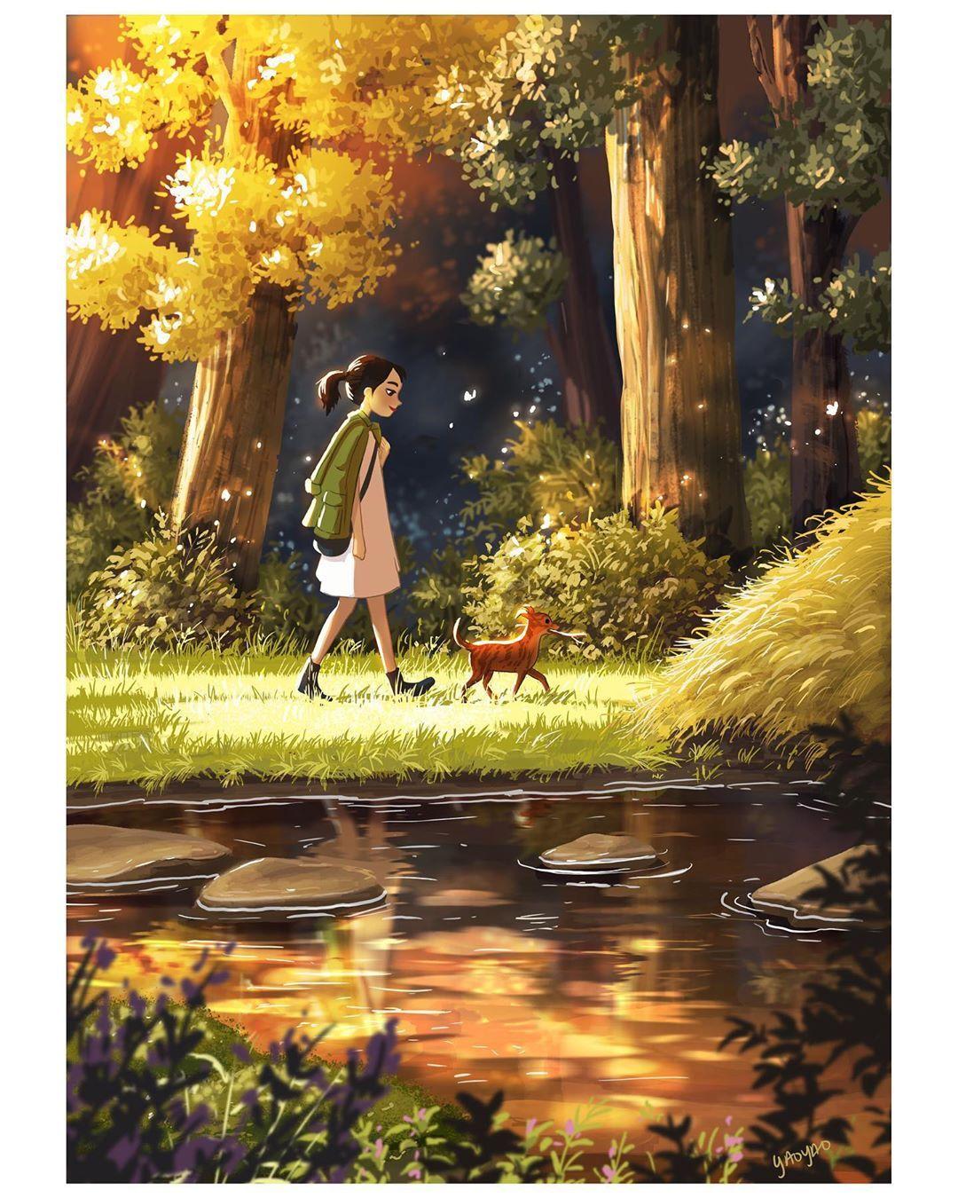 You Make Everything Magical Illustration Iloveparker Producción Artística Arte Impresionista Arte De Sueños