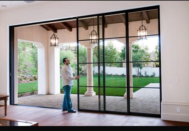 Love These Windows Sliding Doors French Doors Patio Mediterranean Homes Mediterranean Decor