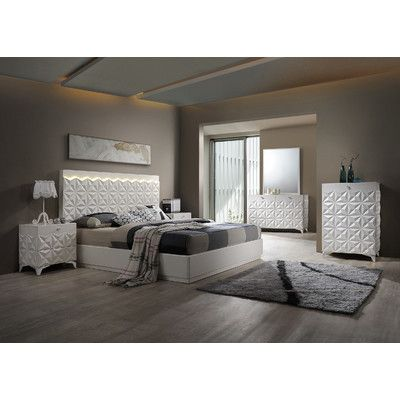 BestMasterFurniture India Platform 5 Piece Bedroom Set Size