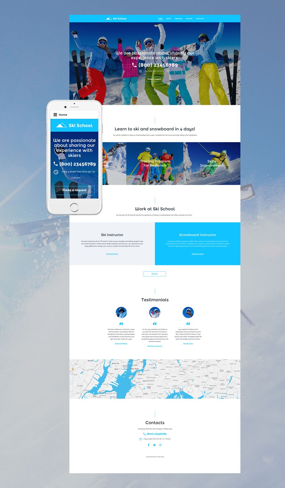 Ski school website template pinterest template and website skiing website template maxwellsz