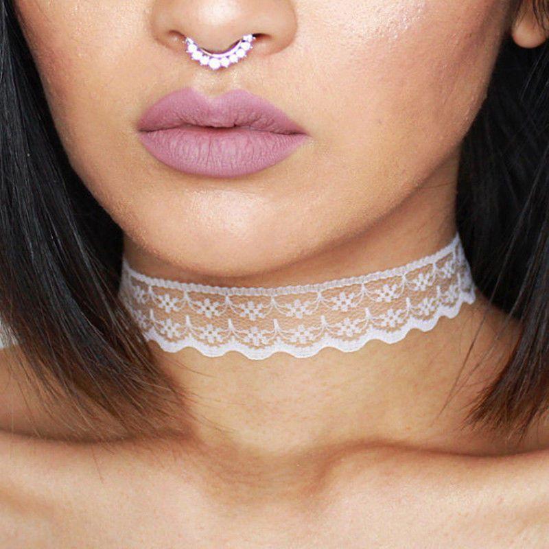 White Vintage Lace Chokers