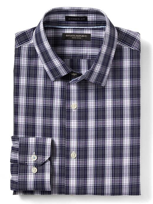 Banana Republic Camden Fit Non Iron Multi Plaid Shirt