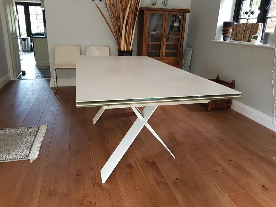 Fantastic Modern Ceramic Top Extendable Table Xenon Features A Download Free Architecture Designs Scobabritishbridgeorg