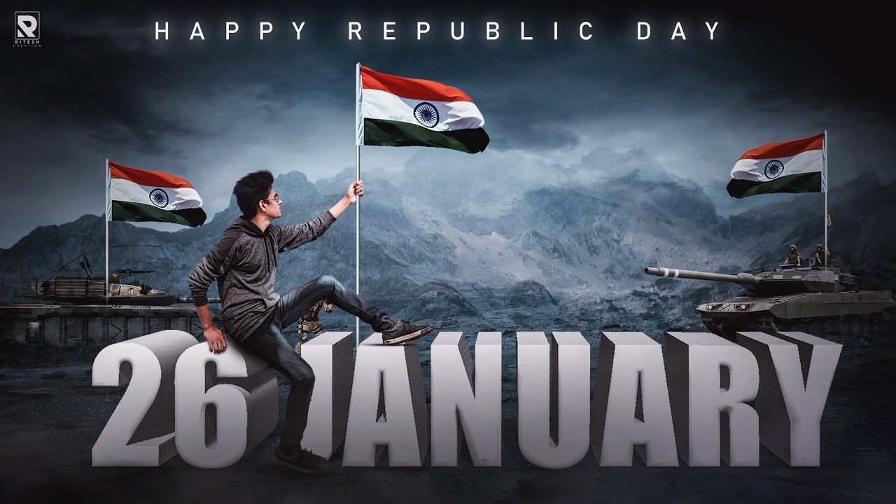 Picsart Republic Day 3d Text Manipulation Editing And Viral 26 January Photo Editing Step By Step Republic Day Iphone Background Images January Photo
