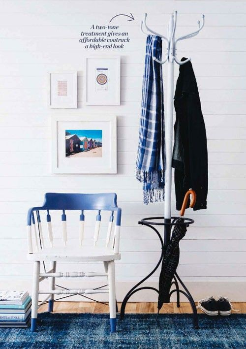 New trend: Painted chairs with dipped or raw legs