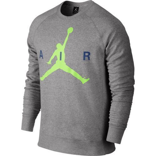 Nike Air Jordan Jumpman Graphic Brushed Crew Men Sz XL Grey