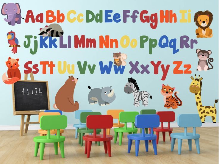 art Little Pig Studios preschool Nursery Wall Print ABC Alphabet learning