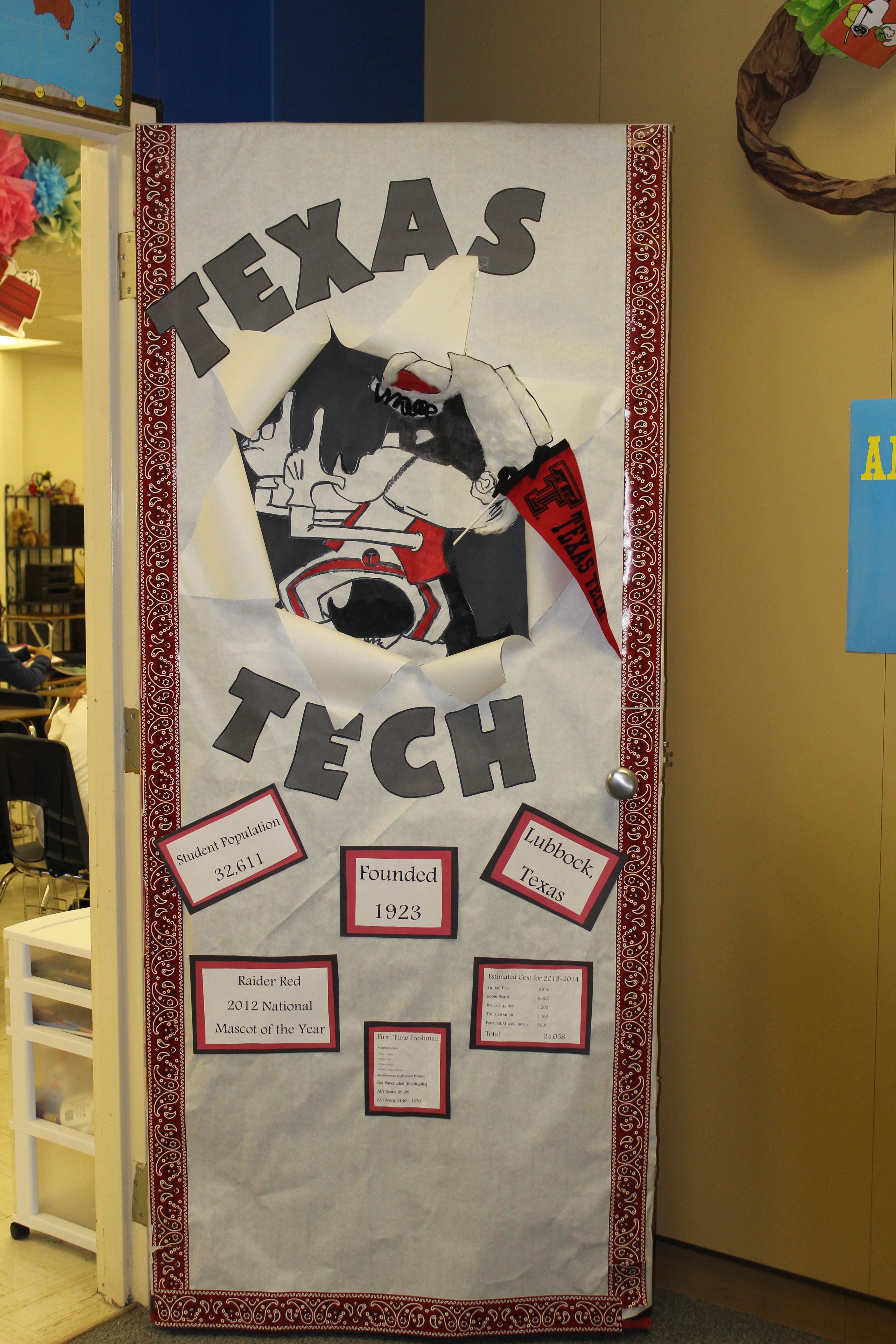 Jr High Classroom Decorating Ideas : Teachers at crockett jr high held a college door