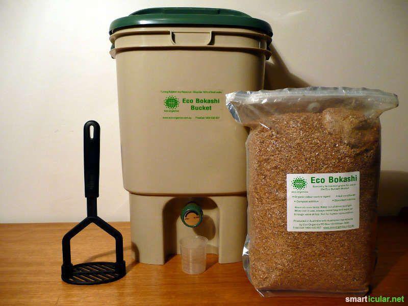 kompostieren direkt in der k che mit bokashi eimer haus pinterest. Black Bedroom Furniture Sets. Home Design Ideas