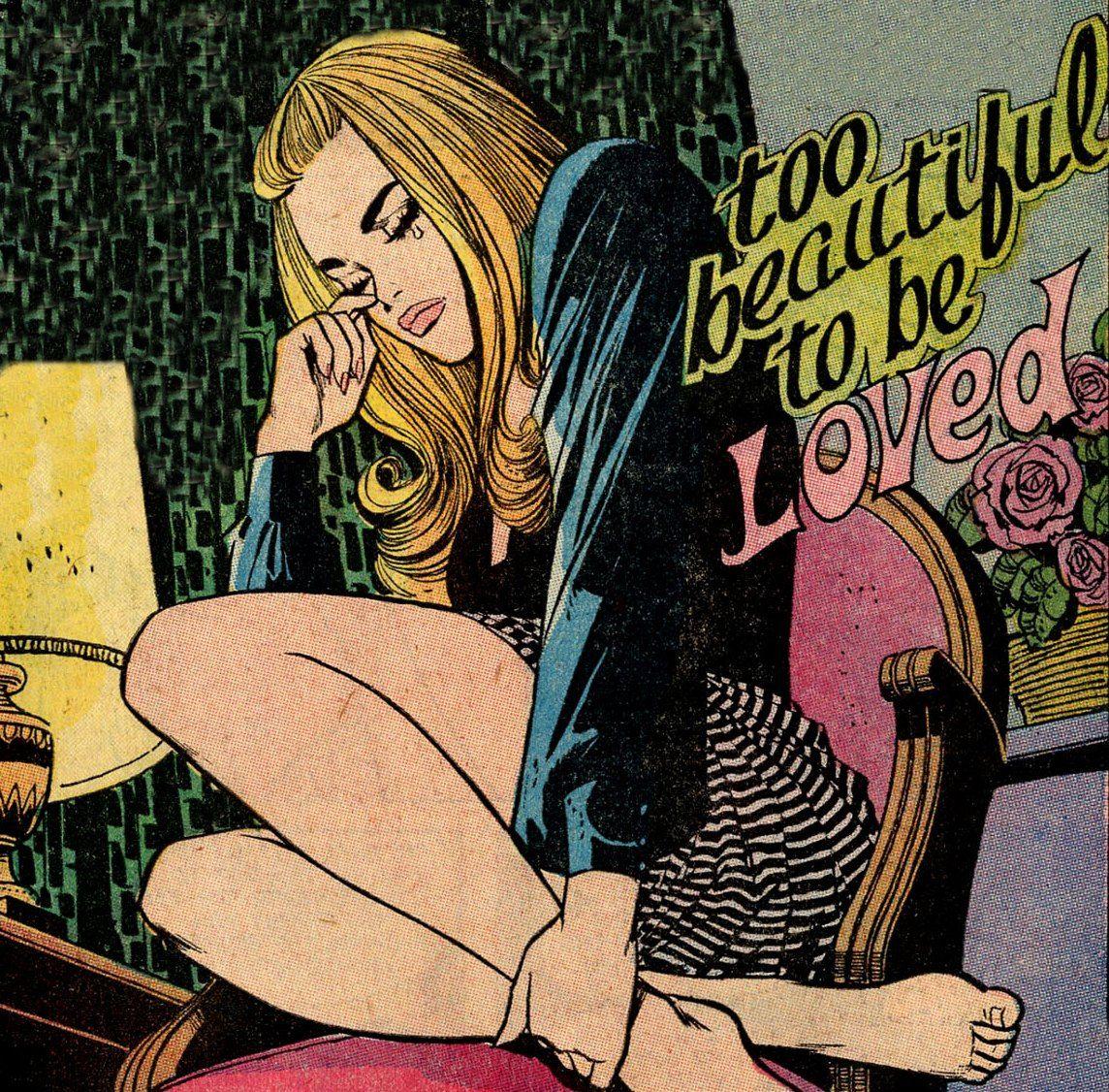 girls comics cartoon Beautiful