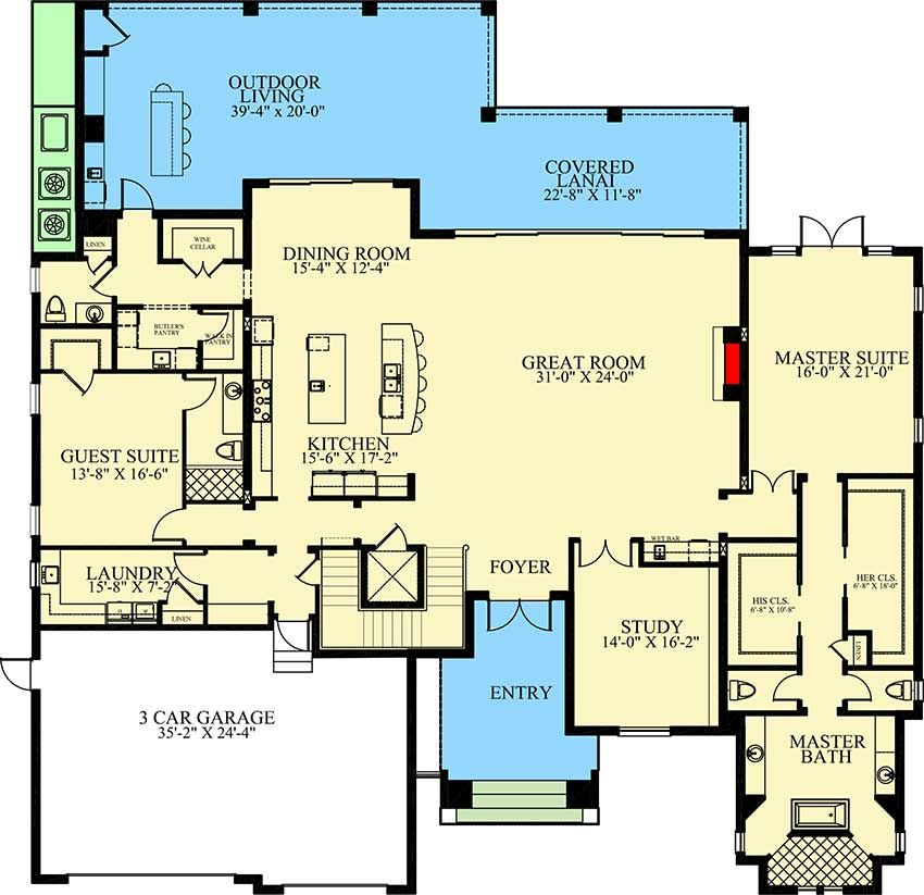 Plan 24120bg Two Story Contemporary Beach Home With First Floor Master Suite Beach House Plans Two Story House Plans House Plans