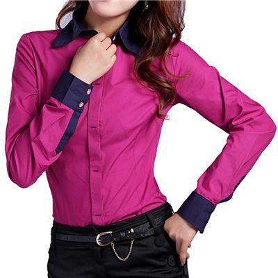 b451e4f00acd Camisa de mujer con botones de manga larga y tallas grandes | BLUSAS ...