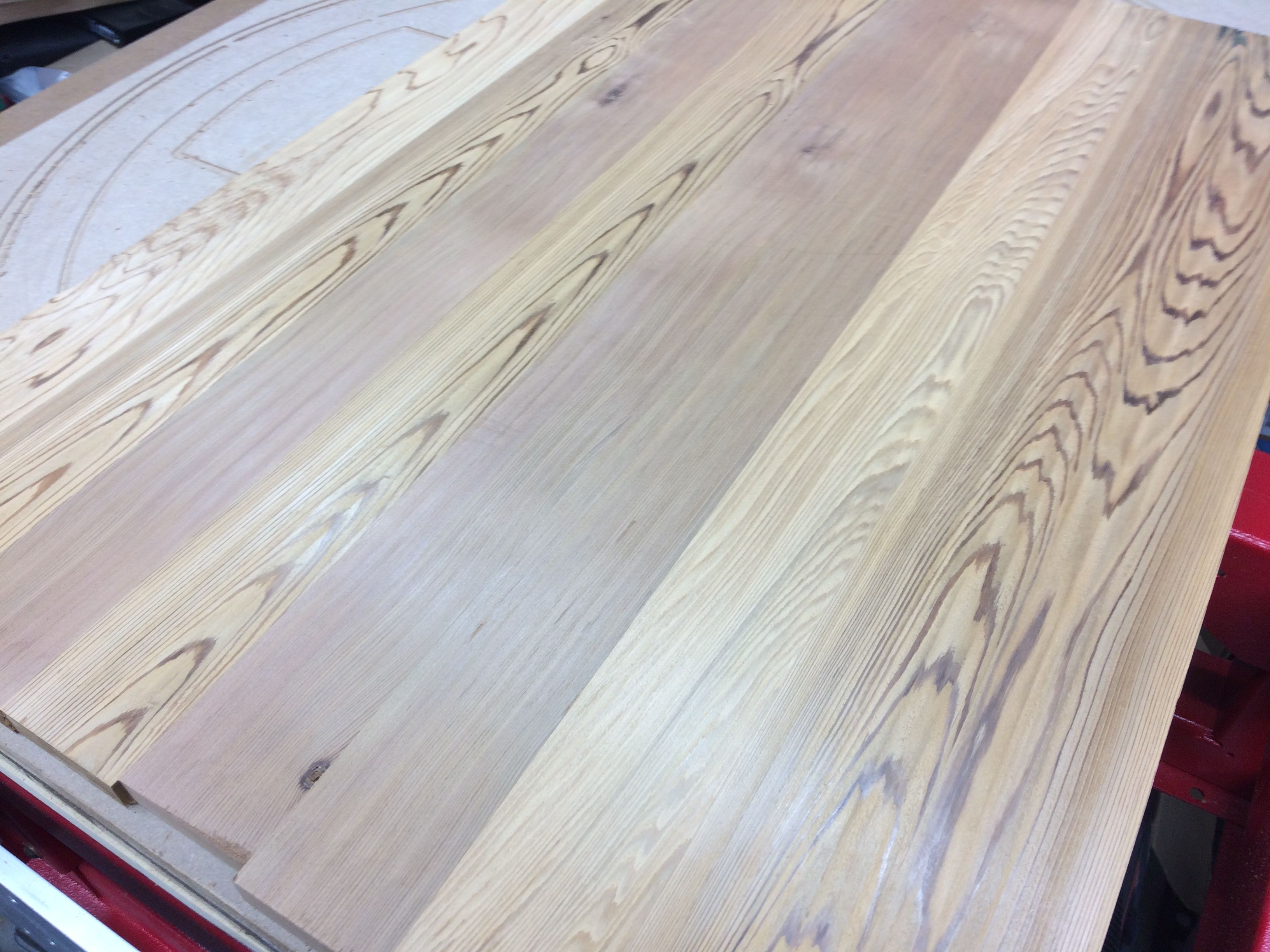cedar project boards surfaced planed on the cnc