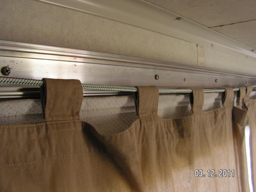 curtains for older pop up camper