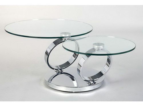 double round glass coffee table glass