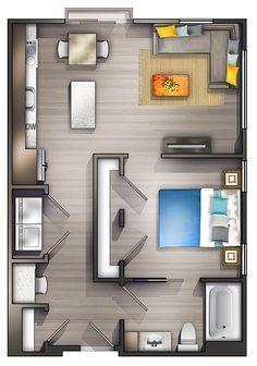 Minimalist Apartment Floor Plan
